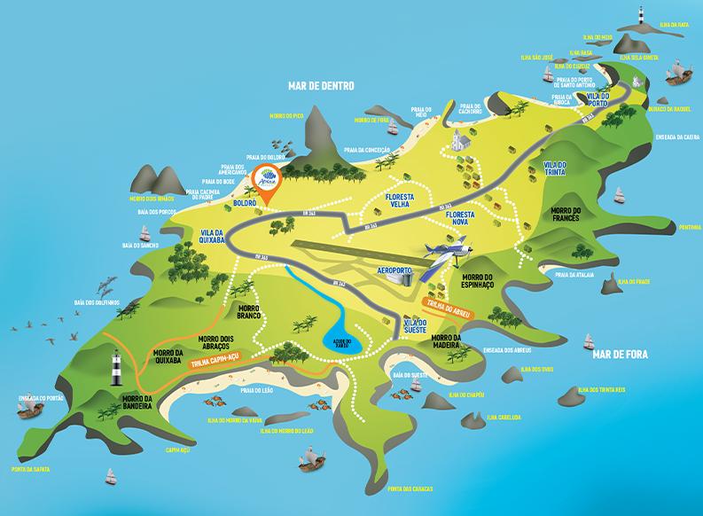 mapa Fernando de noronha atalaia