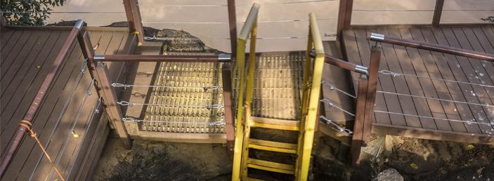 escadaria de acesso a praia do sancho